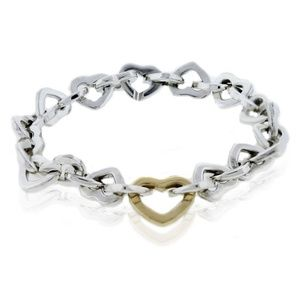 Tiffany & Co open heart link bracelet.